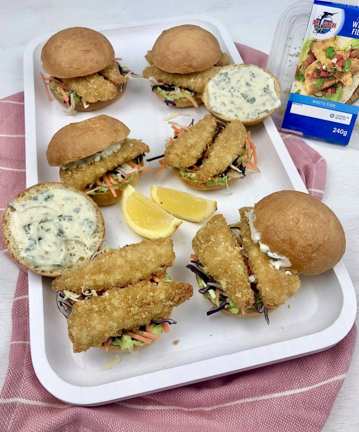 Crumbed Whiting Slider with Herb Mayo