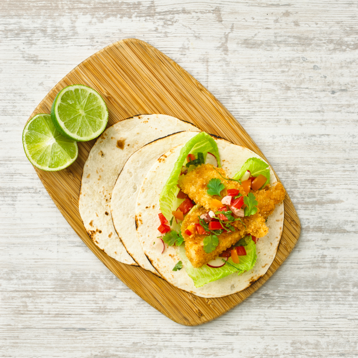 Golden Fish Taco's with fresh Tomato Salsa