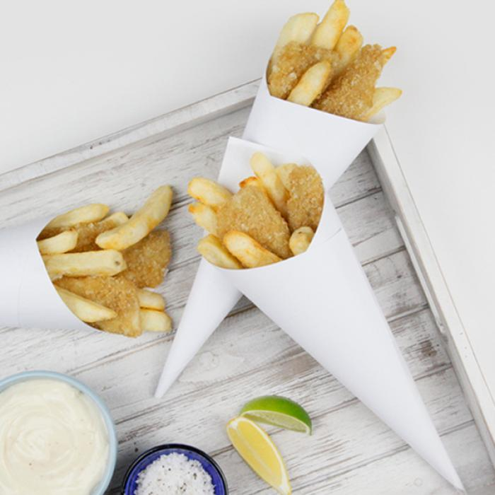 Crumbed Whiting & Chips Cones