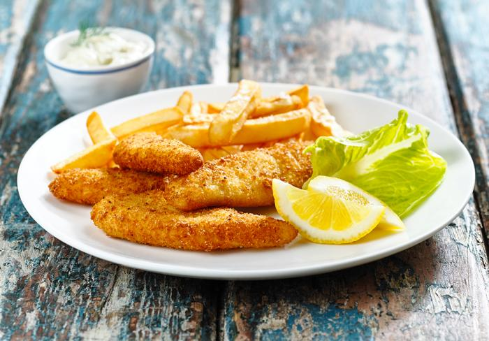 Crumbed Whiting Fish & Chips