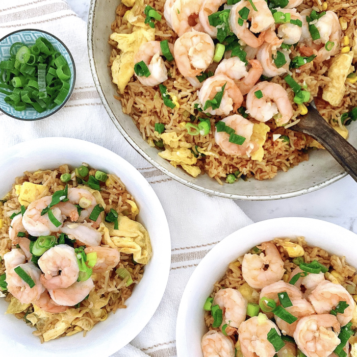 Fried Rice with Garlic Prawns