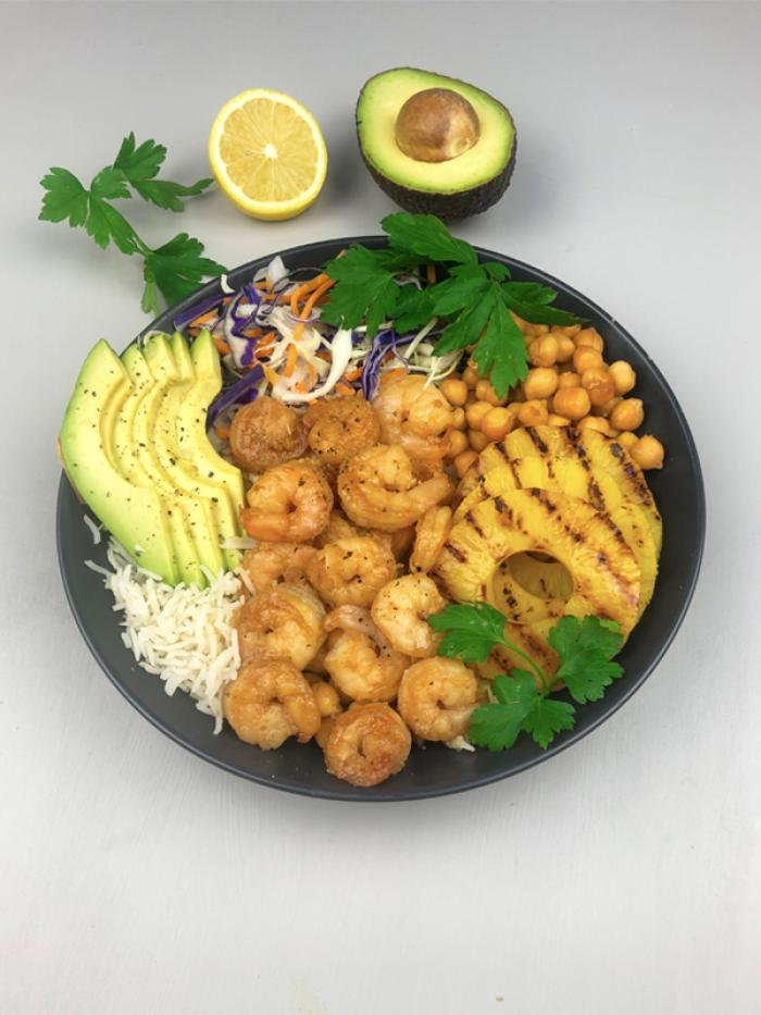 Sweet & Sticky Prawn Bowl